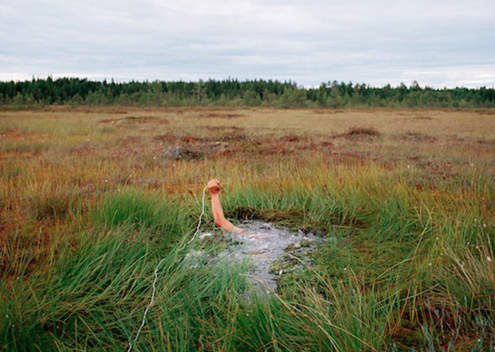 Antti Laitinen, Self-portrait in the swamp, 2002 © COAL