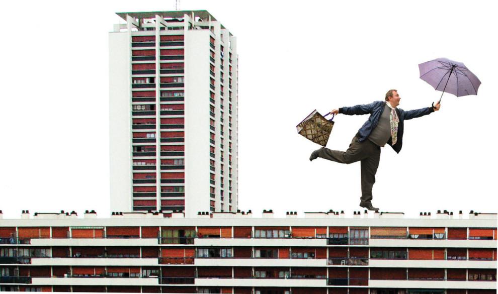 Nicolas Simarik sur les immeubles du Sanitas © Nicolas Simarik