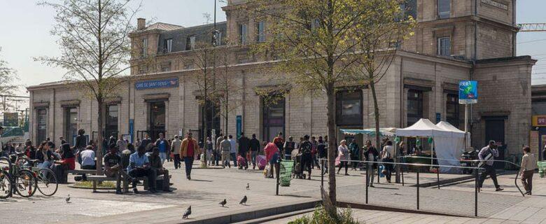 Gare de Saint-Denis, Plaine commune © Pletulzo