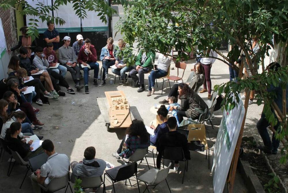 Atelier populaire d'urbanisme au Pavillon © Association ICI!