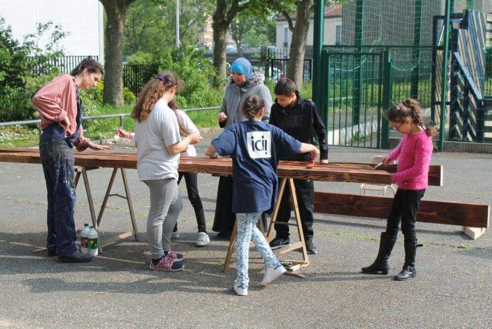 Rénove ton école - Chantier © Association ICI!